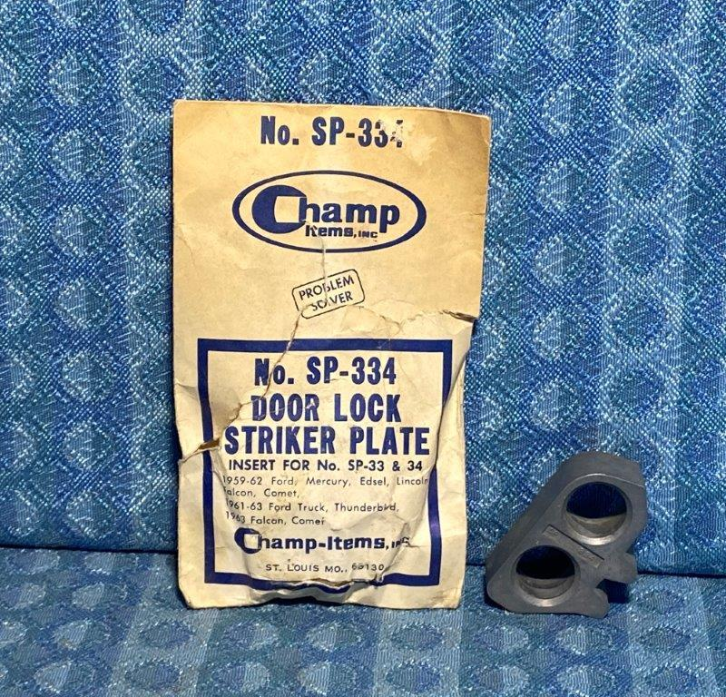1959-1962 Ford Lincoln Mercury Thunderbird NORS Striker Plate Insert (SEE AD)