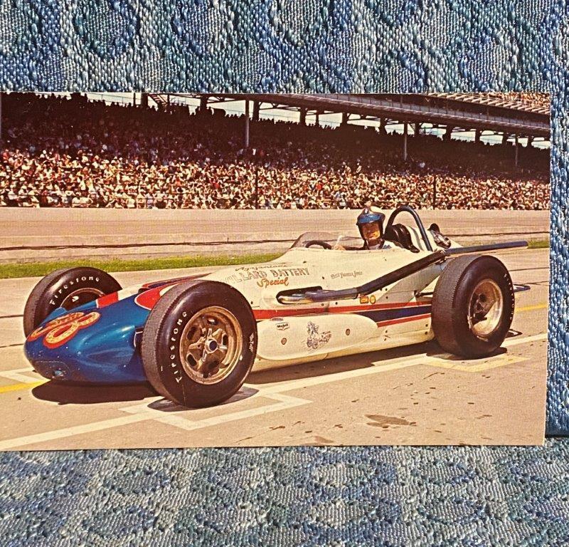 1963 Parnelli Jones Winner Indianapolis Motor Speedway Race Car Vintage Postcard