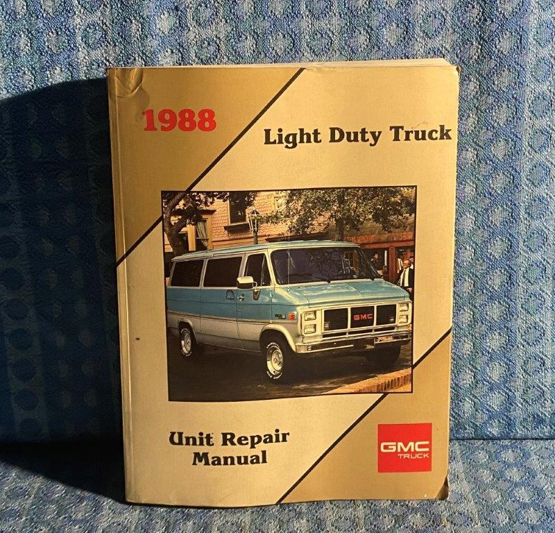 1988 GMC Truck Light Duty Truck OEM Shop Service Repair Manual R/V C/K G P S/T M