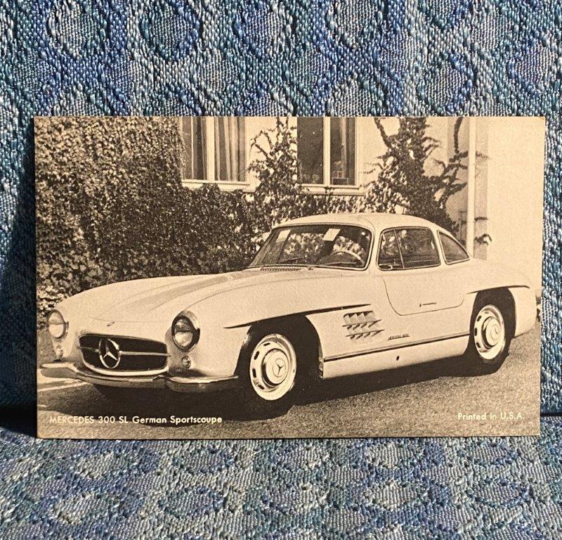Circa 1955 Mercedes 300 SL Gullwing Coupe Vintage Postcard
