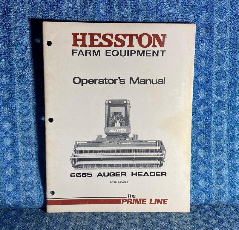 Hesston 6665 Auger Header OEM Owners / Operators Manual