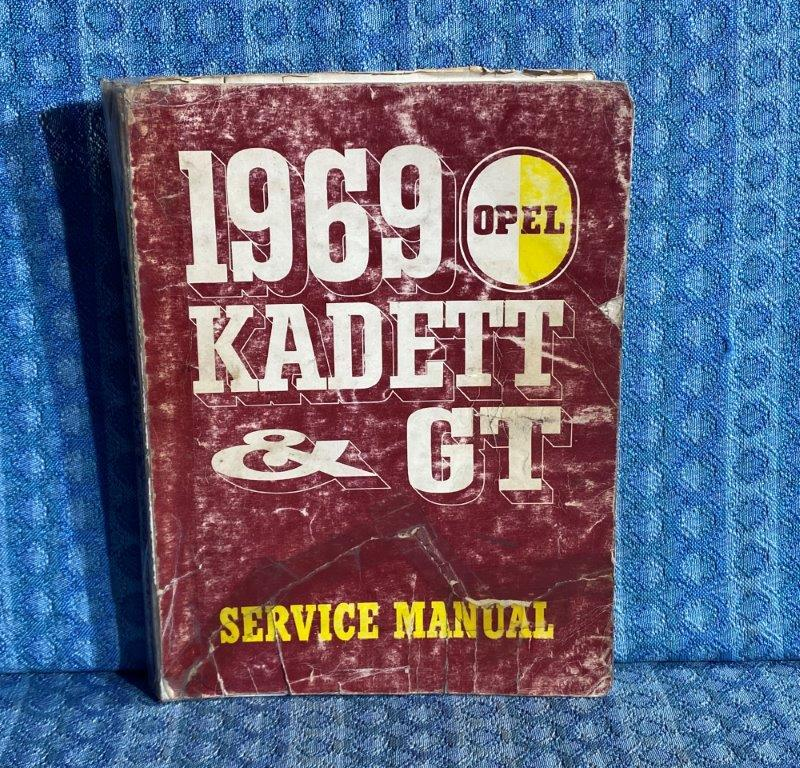 1969 Opel Kadett & GT Original Shop / Service Manual
