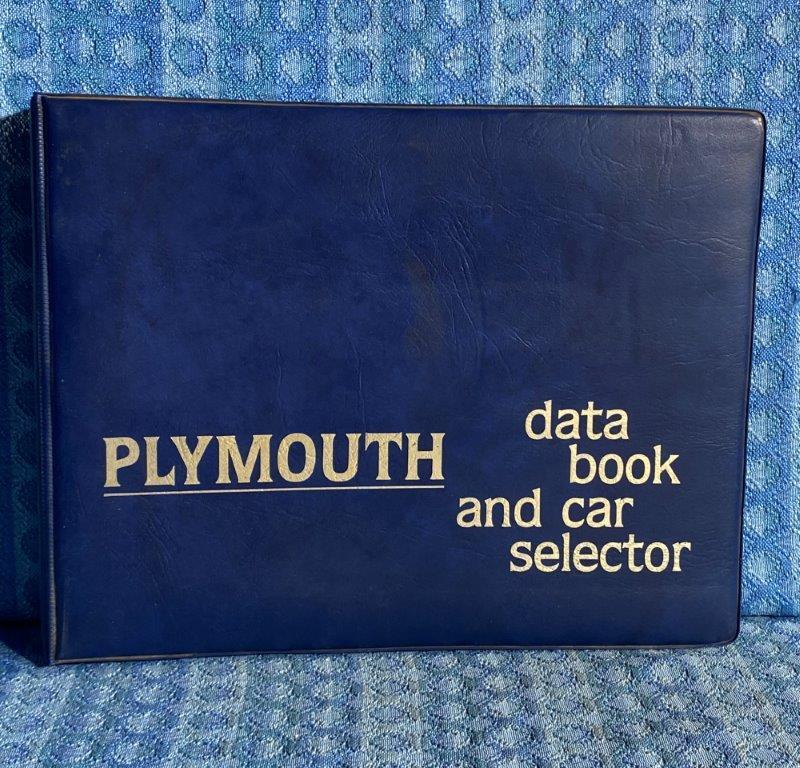 1979 Plymouth Original Dealer Only Data Book & Car Selector Ordering Guide