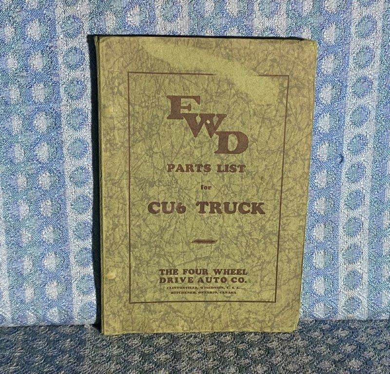 Circa 1925-1930 FWD Truck Model CU6 Original Illustrated Parts List - Catalog