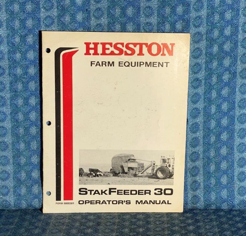 Hesston StakFeeder 30 OEM Owners / Operators Manual