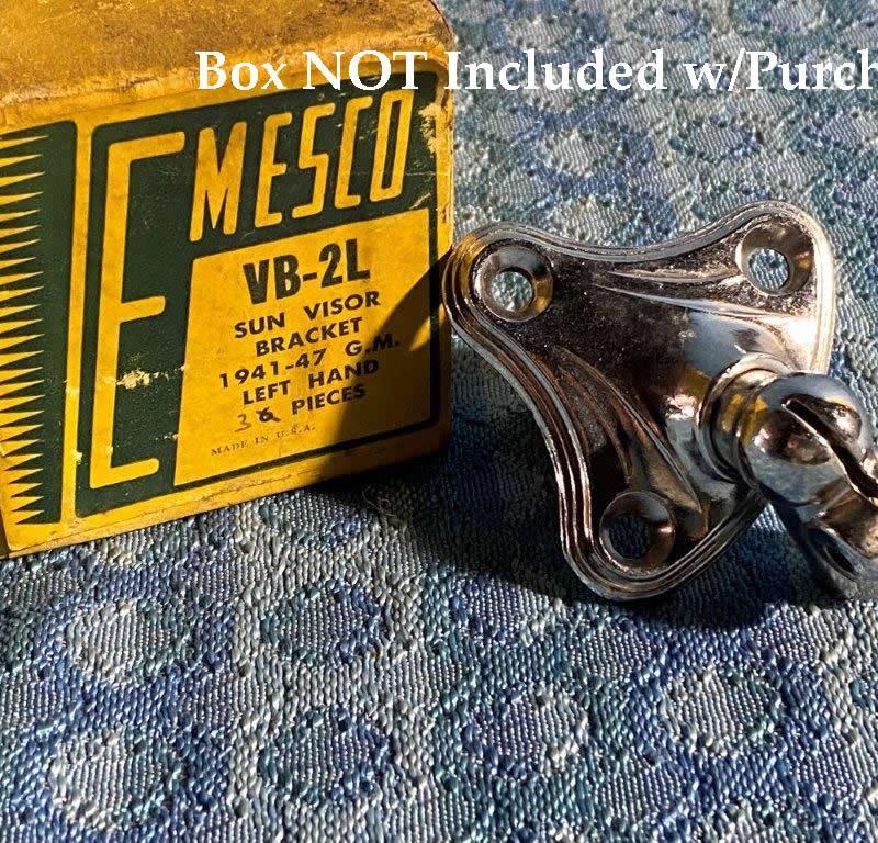 1941-1948 Chevrolet Pontiac Oldsmobile Buick NORS L.H. Sun Visor Bracket 1942 46