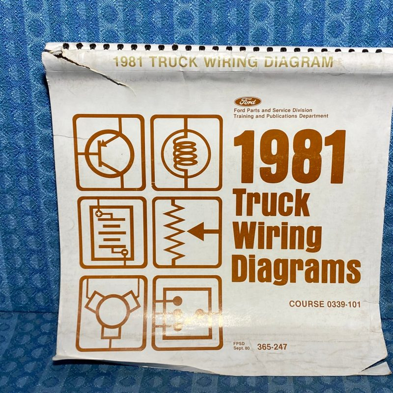 1981 Ford Truck Light-Med-Heavy Duty OEM Wiring Diagrams Courier B-F-C-L-CL-9000