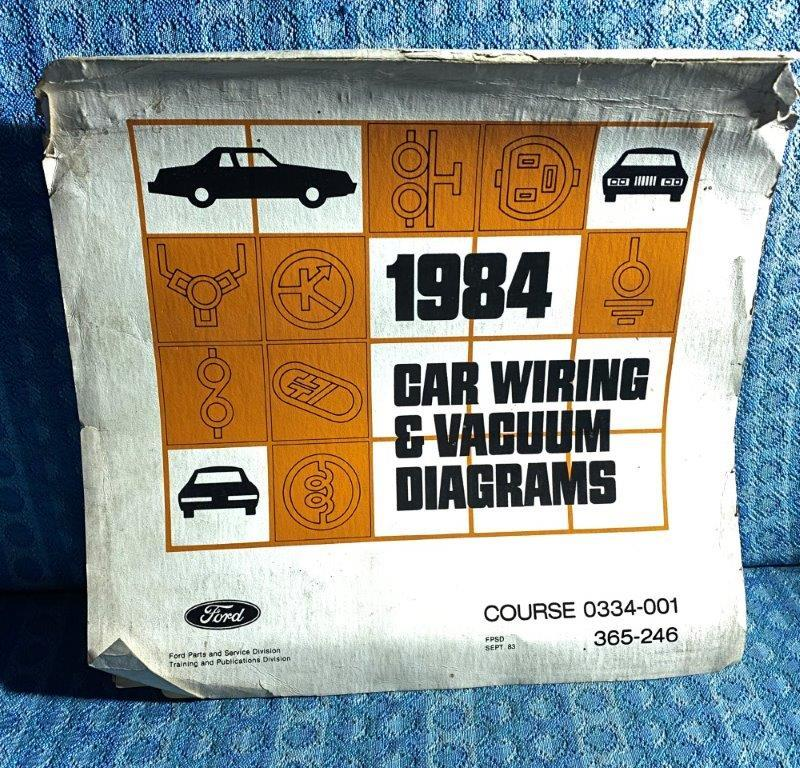 1984 Ford Lincoln Mercury OEM Wiring & Vacuum Diagrams Mustang Mark VII T-Bird