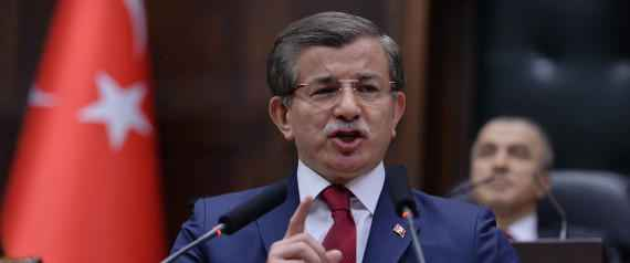 Turkey's Prime Minister Ahmet Davutoglu addresses his lawmakers at the parliament in Ankara, Turkey, Tuesday, May 3, 2016. Long-denied tensions between Turkey's president and prime minister are beginning to surface publicly, leading to speculation that the country's powerful leader may be considering replacing the premier with a figure more willing to take a backseat role. (AP Photo)