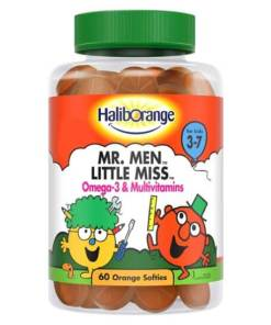Haliborange MEN LITTLE MISS omega 3 Multivitamins 60 orange softies