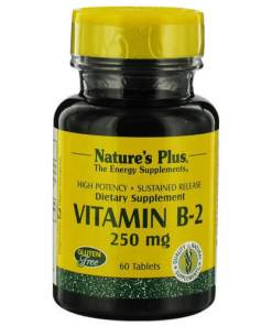 natures plus vitamin B2 250 mg 60 tablets