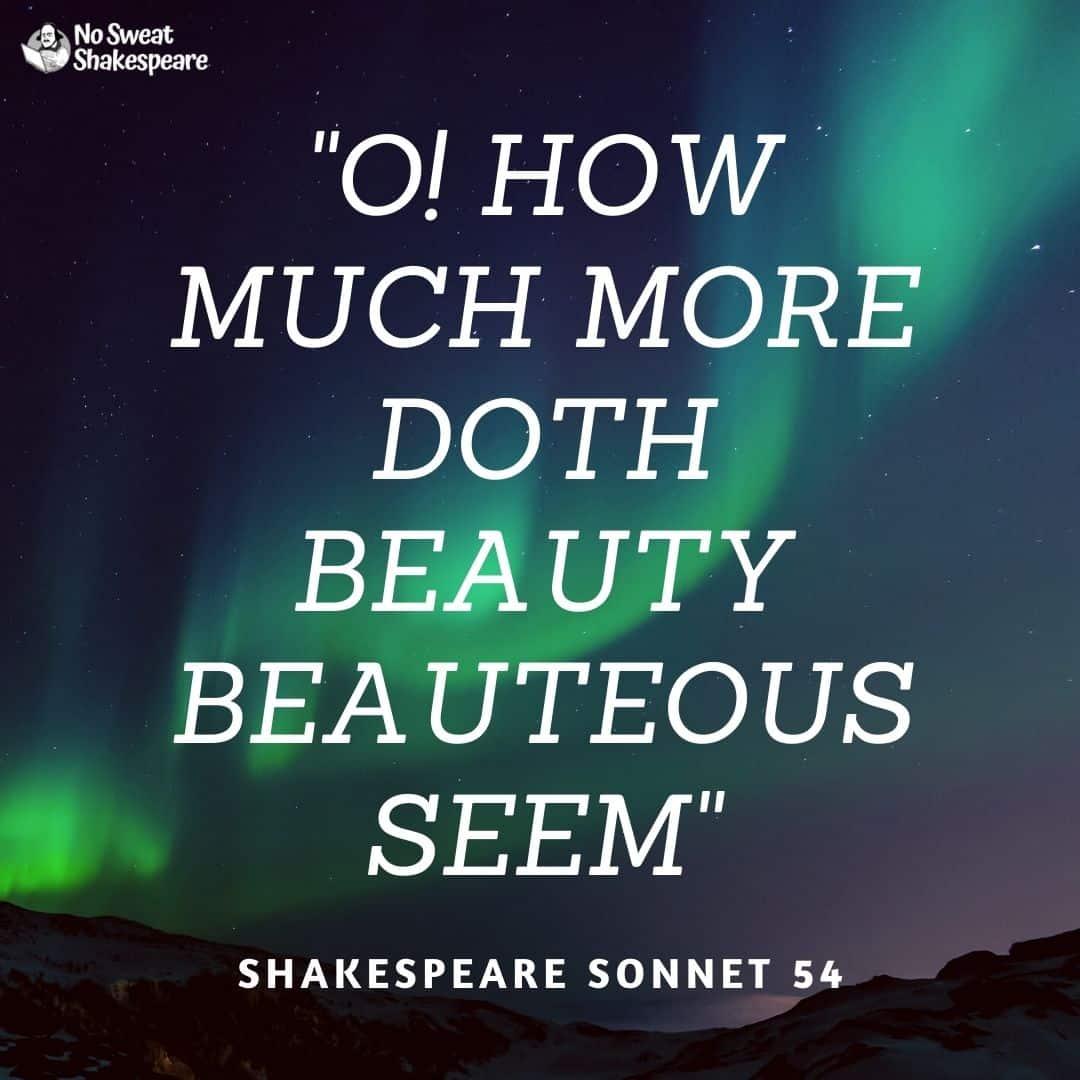 Sonnet 54 O How Much More Doth Beauty Beauteous Seem