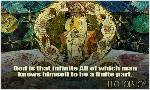 God is that infinite All of which man knows himself to be a finite part.