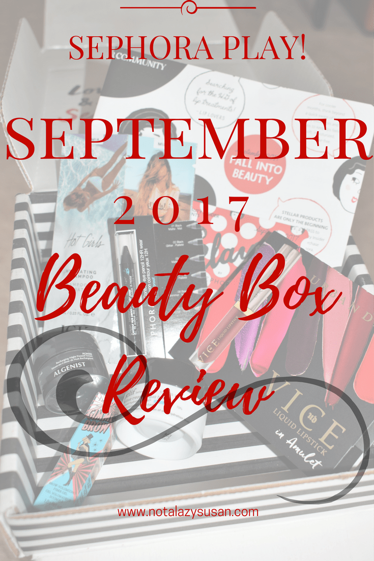 Sephora Play! Beauty Box Review September 2017