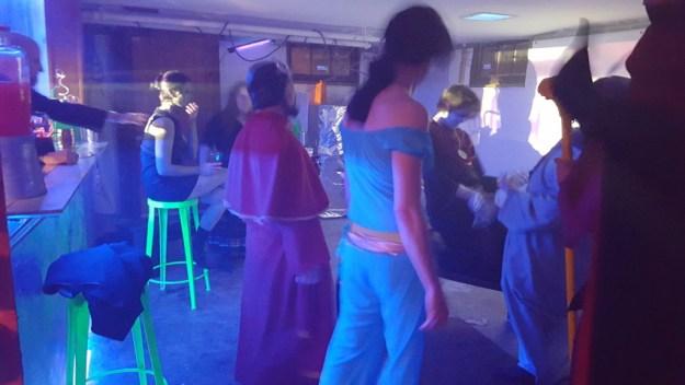 Drunken dancing in the basement