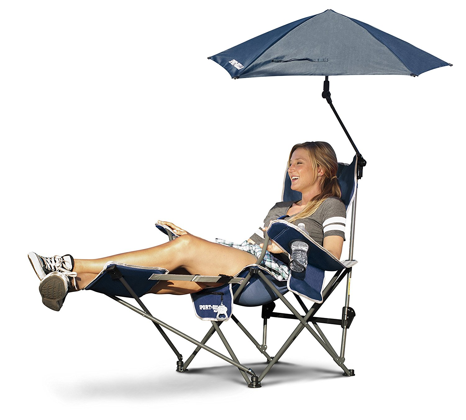 Sport Brella Reclining Camping Chair With Attached