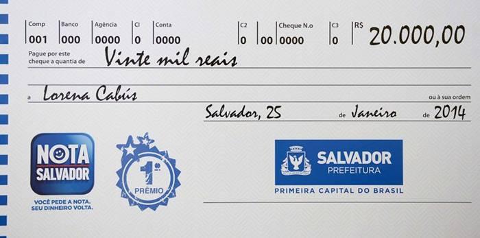 nota premiada Salvador