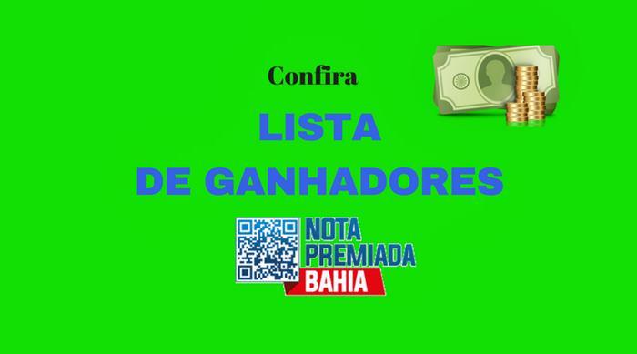 Lista de ganhadores nota premiada Bahia