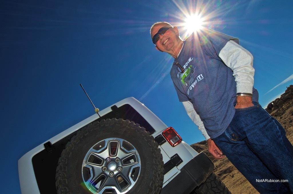 John Sears and his white Jeep Rubicon