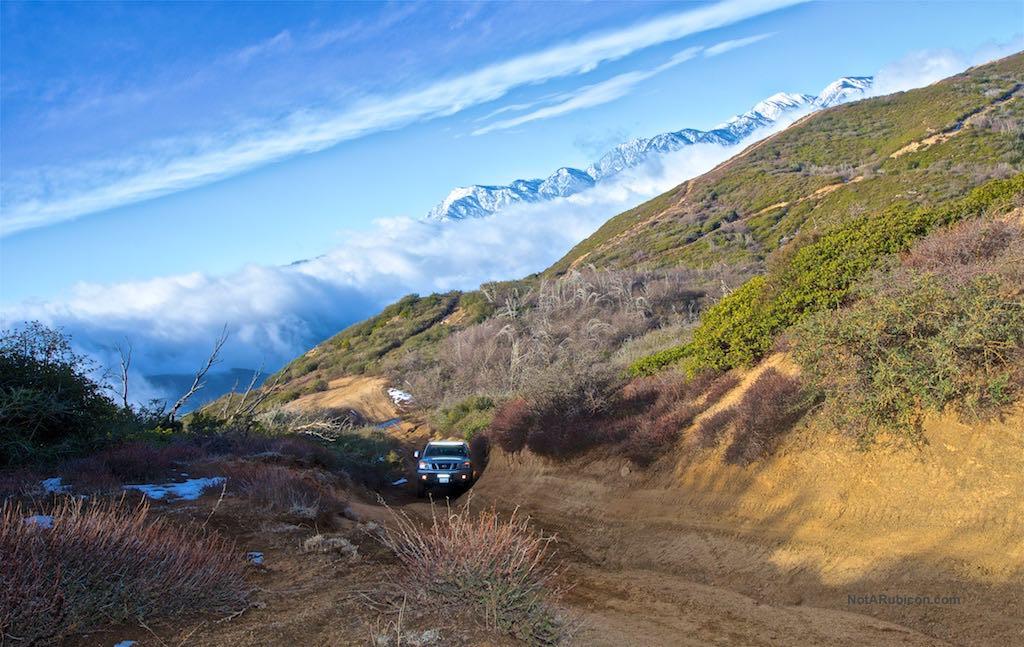 Nissan Titan going up a hill on Cleghorn
