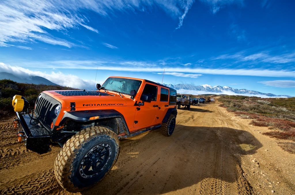 Jeep at the top of the mountain at Cleghorn