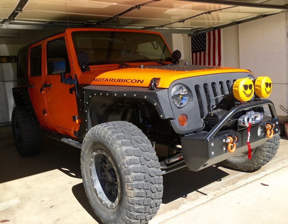 The NotARubicon with new winch and fenders
