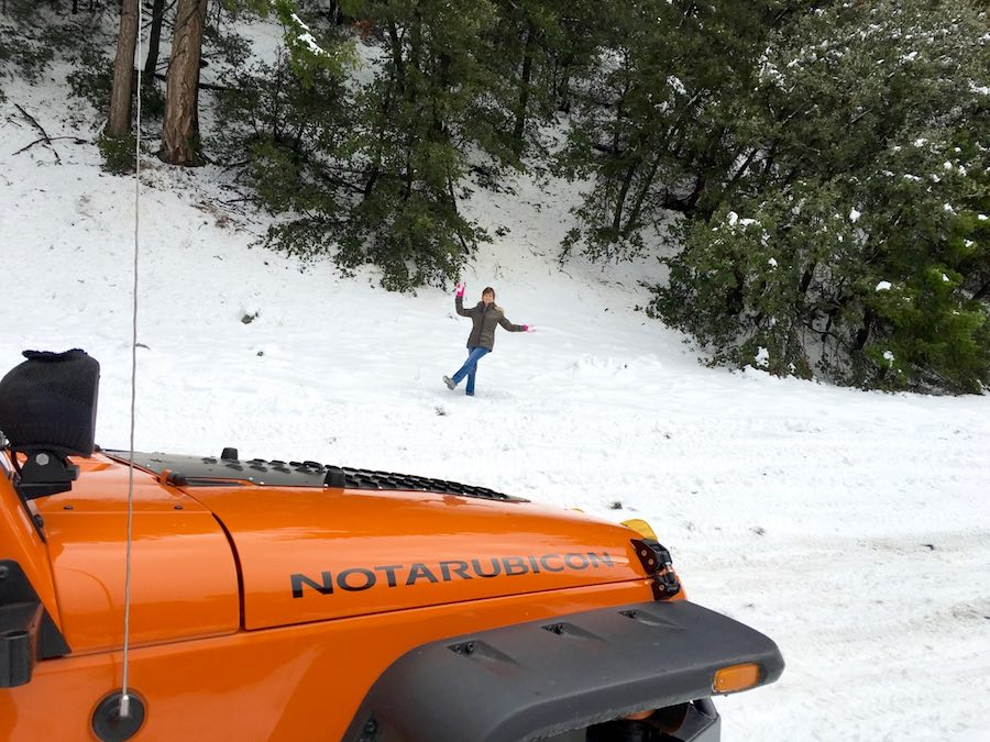 Dancing in the snow by the NotARubicon jeep
