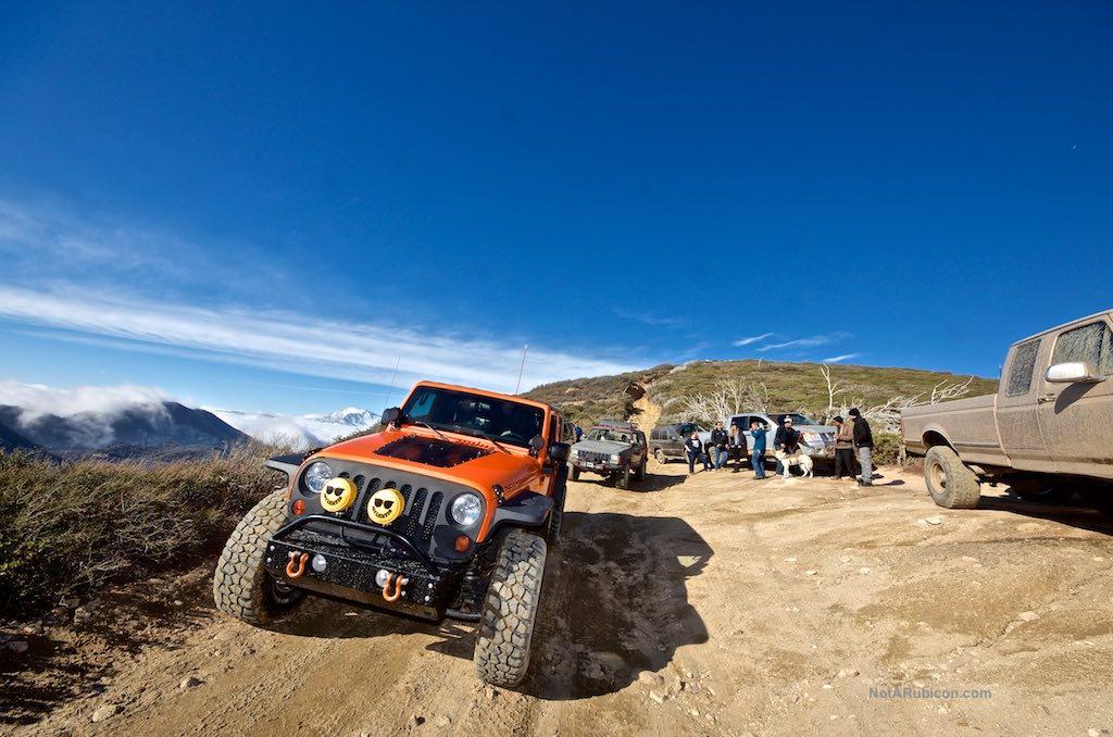 Jeeps on Cleghorn trail
