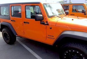 The NotaRubicon Jeep on the sales lot