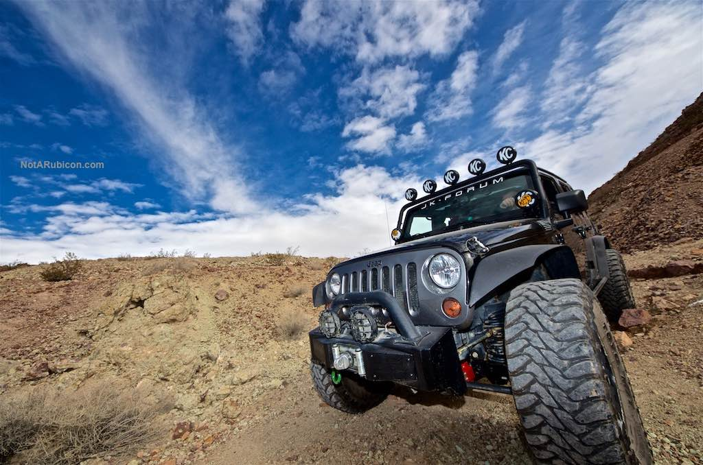 Shawn Bradford's black Jeep Wrangler