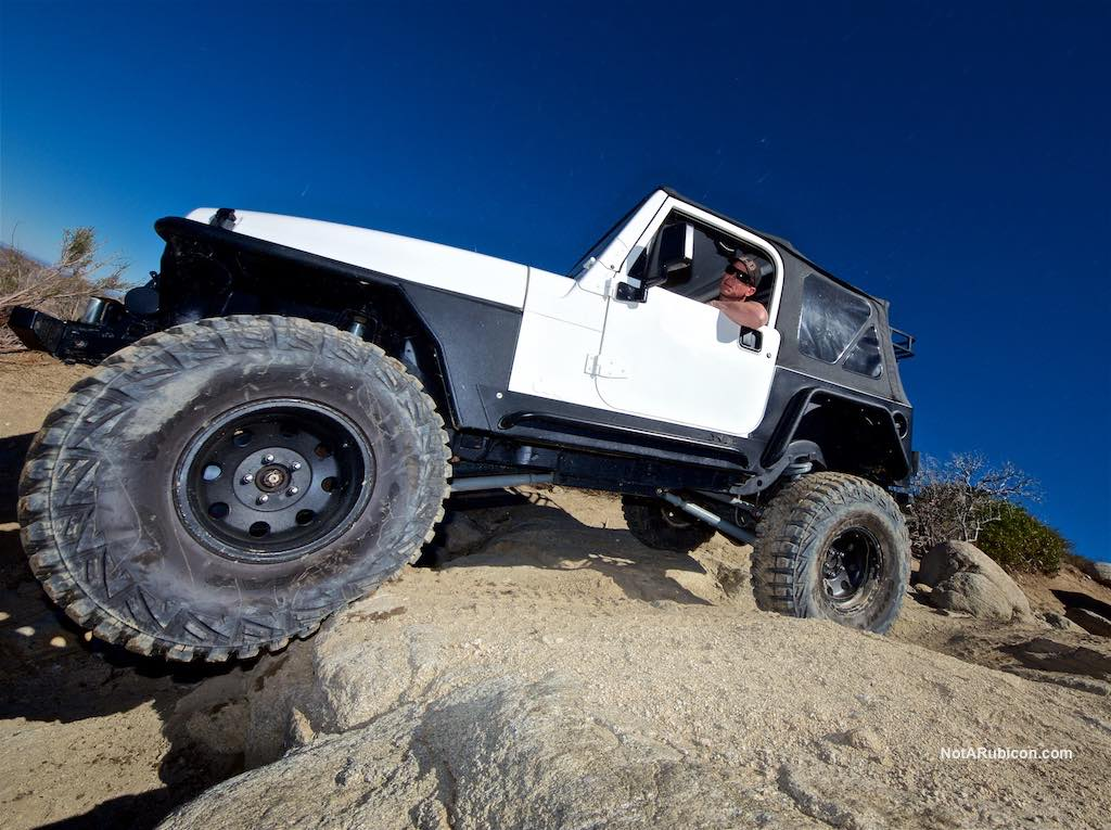 Jeep on the rocks on Cleghorn Trail