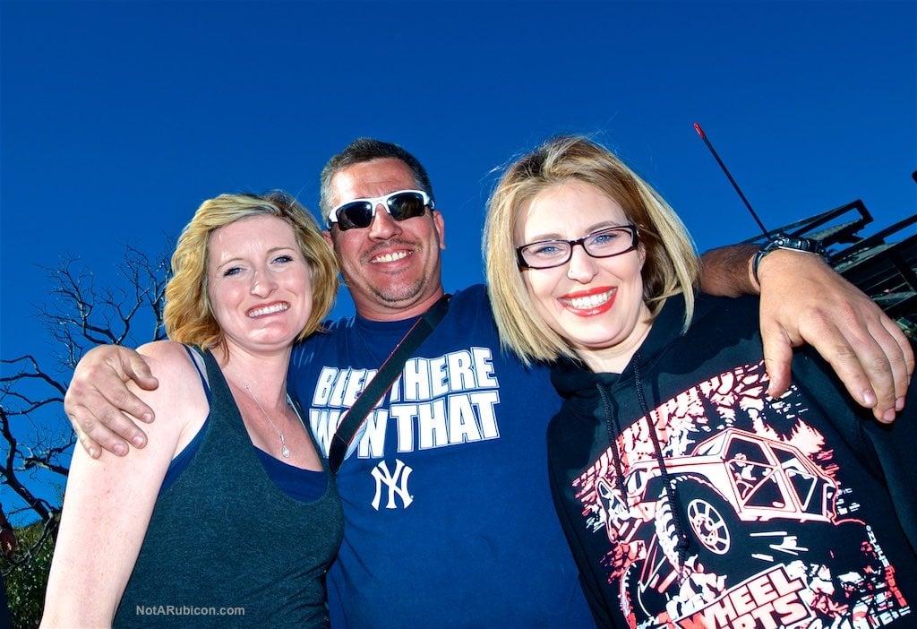 Chris Munoz with the ladies at Cleghorn