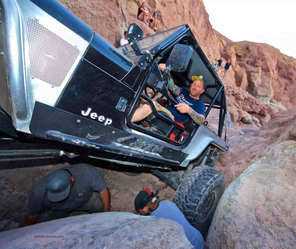 Jeremy Reese in his Jeep