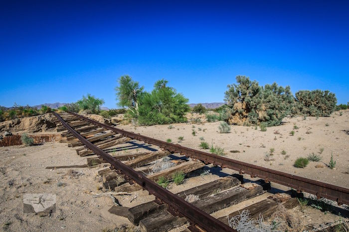 Washed out Eagle Mountain Railroad tracks