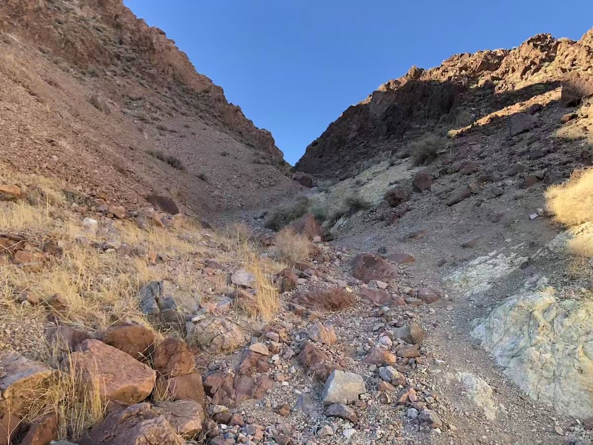 Steep section of Notarubicon 4x4 Trail