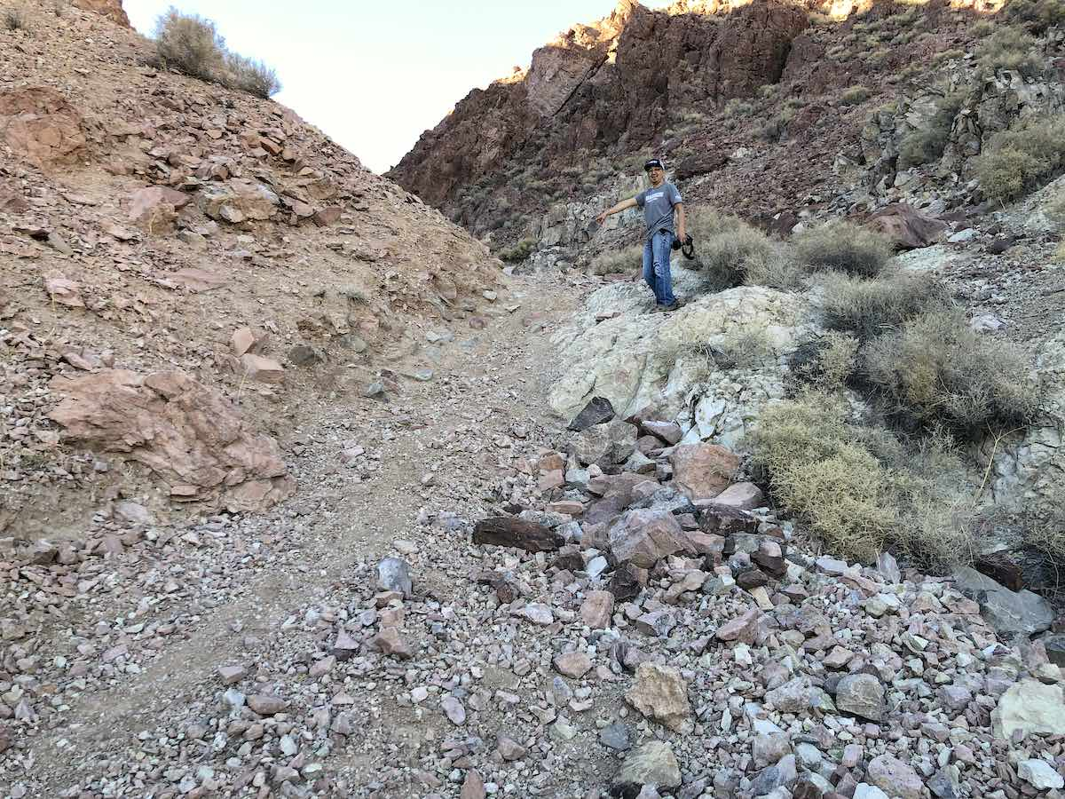 Steep obstacle on Notarubicon Trail