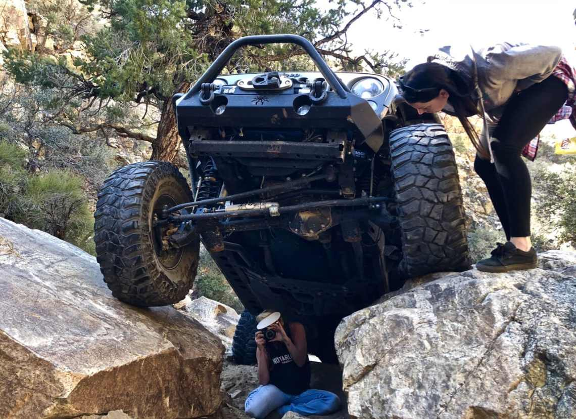 Geoff starting up the extra-credit spot in his 4-door JK. YES, he made it!