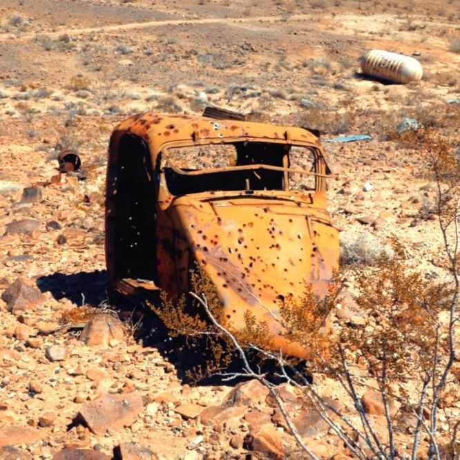 old car at OK Mine