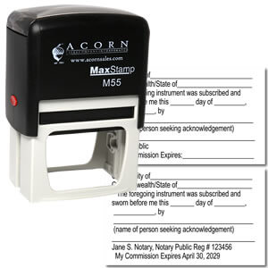 Self Inking Notary Jurat stamp