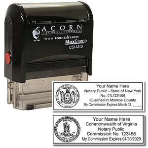 Self Inking Rectangular Notary Stamp