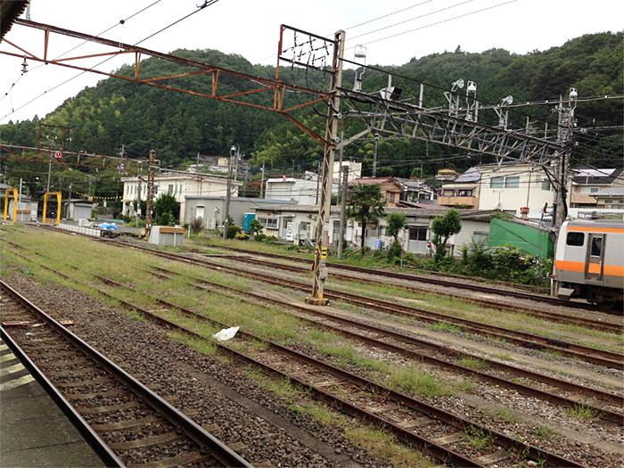 青梅駅からの風景