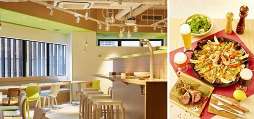 店内と飲食のイメージ写真