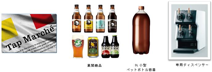 キリンビール、新しいクラフトビールの楽しみ方を提案する「Tap Marché(タップ・マルシェ)」を地域限定で展開