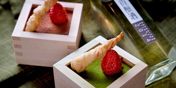 清潔感のある和モダンな雰囲気が人気の居酒屋「日本酒バル 蔵のや」で『獺祭 日本酒スイーツ』を提供する企画を開催中