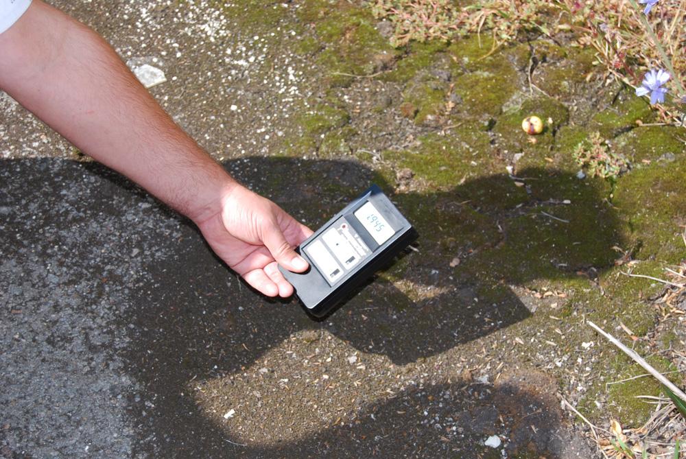 Contador Geyger midiendo la radiación de Prypiat
