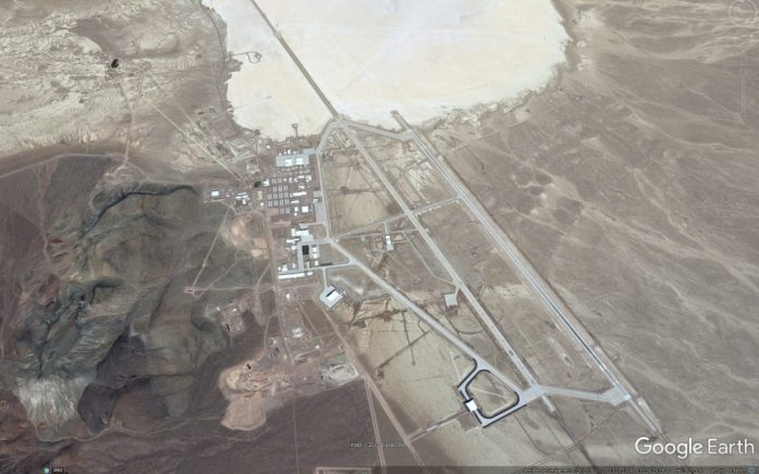 Vistas con Google Earth del Area 51