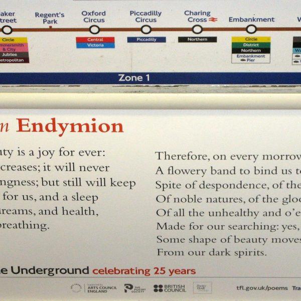 poesía en el metro de londres
