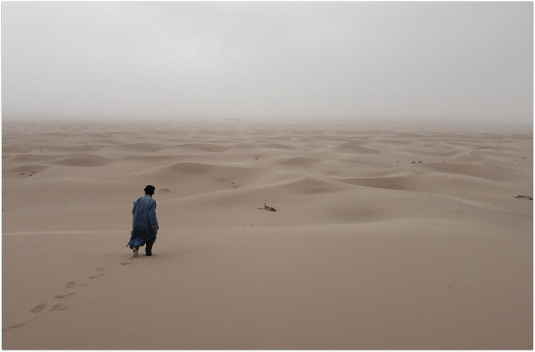 Lloviendo en el desierto