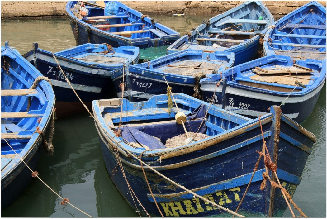 Barcas en Essaouira