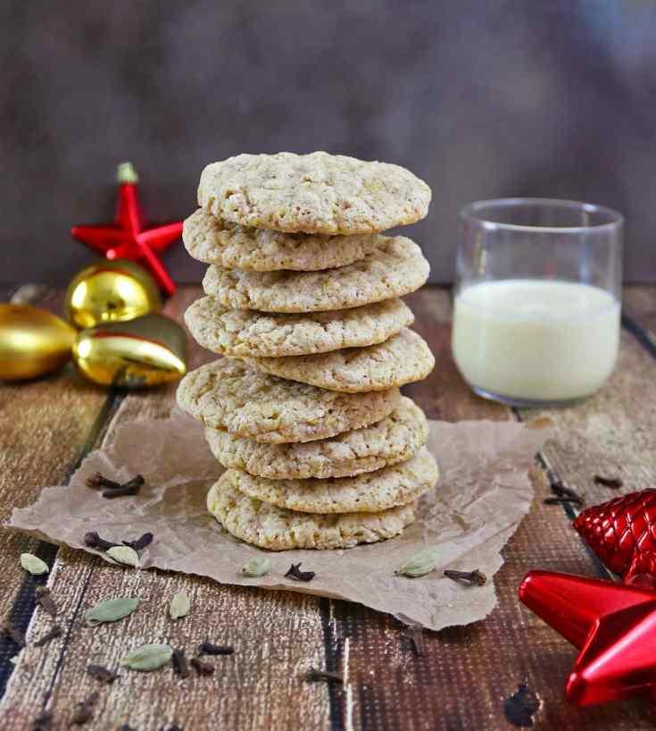 Eggnog Cardamom Cookies